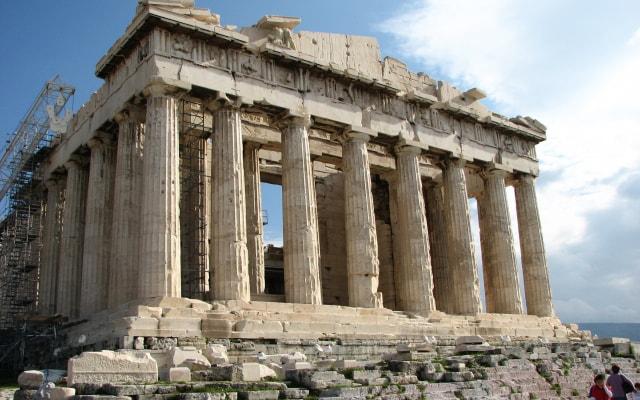 石を使った建築 パルテノン神殿
