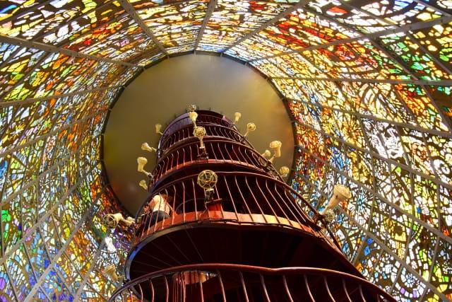 箱根、彫刻の森美術館のステンドグラス