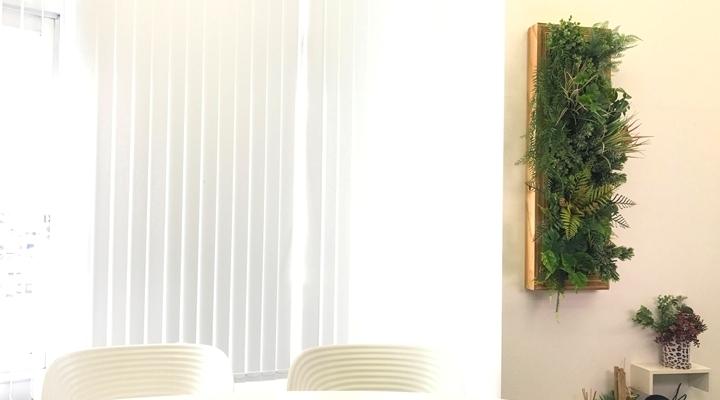フェイクグリーンで室内緑化