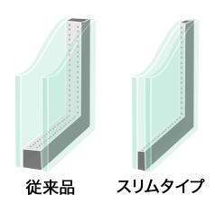 スリムペアは薄いペアガラスです。