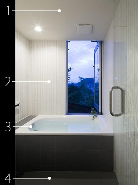 浴室の建材データ