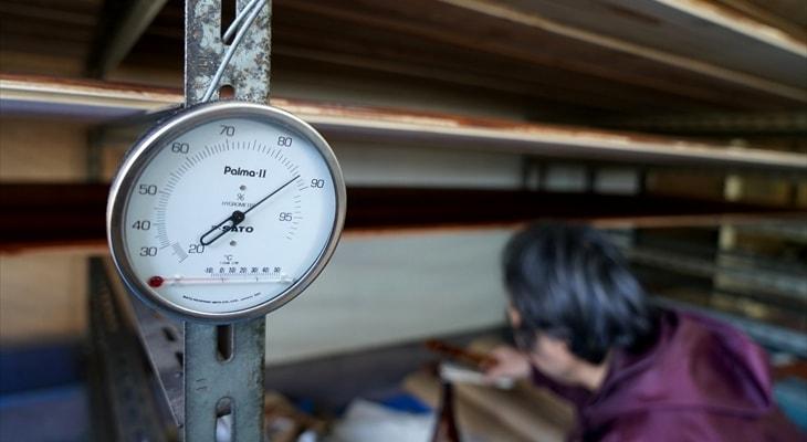 2.拭き漆時の気温と湿度