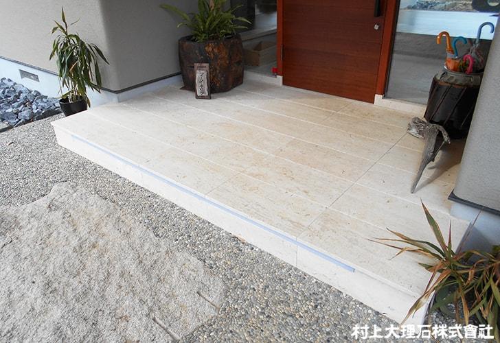 床材としてのトラバーチン