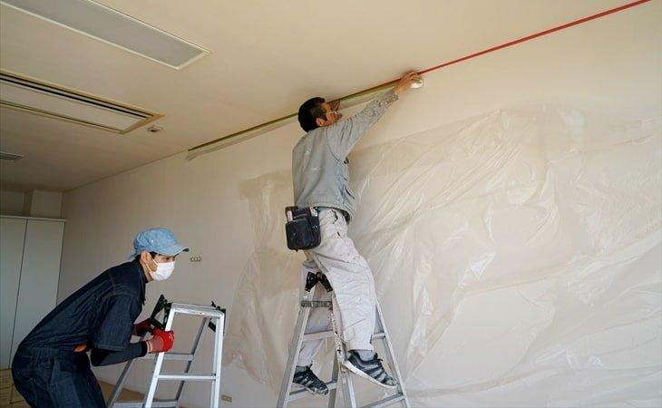 天井塗の養生方法