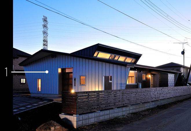 住宅外観の建材データ
