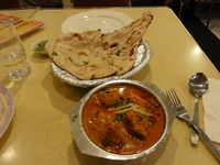 Naan with fish curry avadhi cuisine