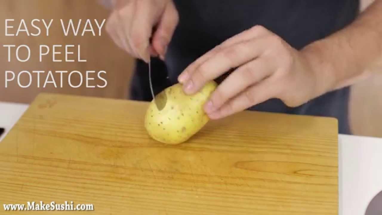 一瞬で丸裸!賢いジャガイモの剥き方