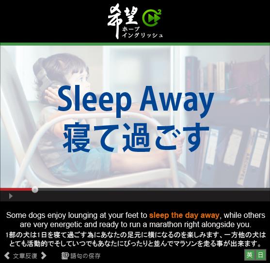 「寝て過ごす」- Sleep Away