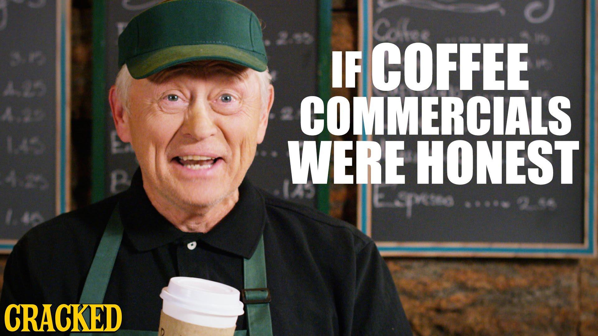 「それでもやめられない…あなたはコーヒー中毒?」- If Coffee Commercials Were Honest