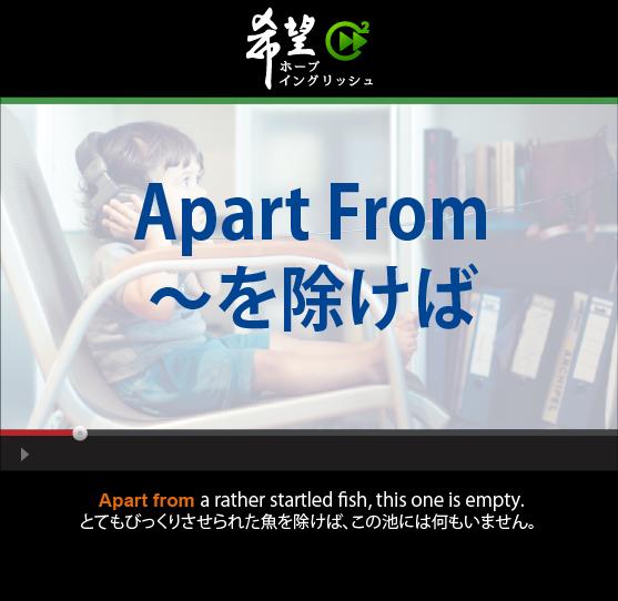 「~を除けば」- Apart From