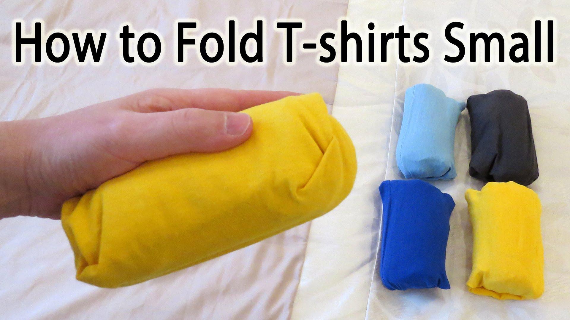 「パッキング裏技!超コンパクトに服を畳もう」- How to Fold a T-Shirt Small to Save Space