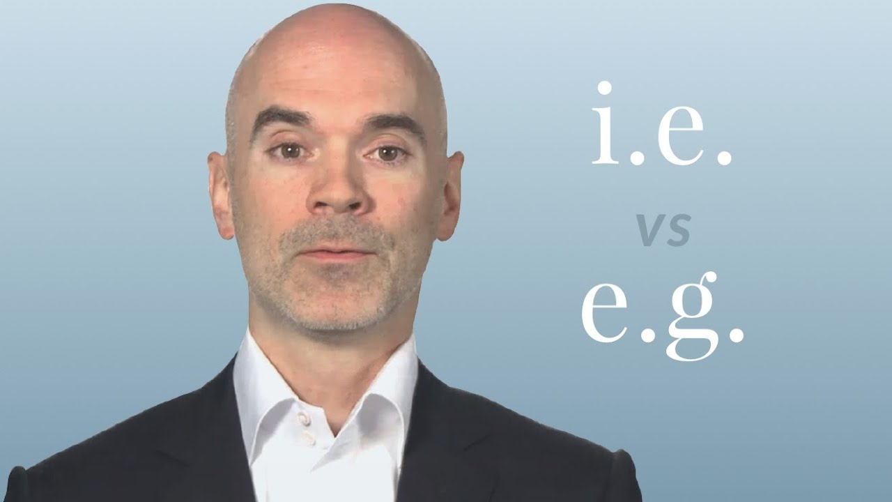 「i.e. と e.g. って何の省略?」- I.E. vs. E.G.