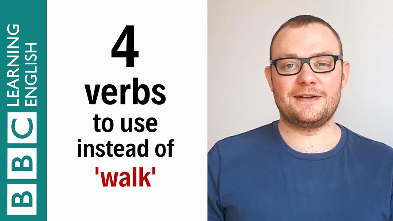 【1分間英語】walkの代わりに使える4つの動詞『歩く』