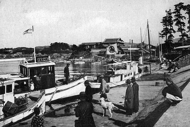 大正3年(1914年) 田辺港波止場