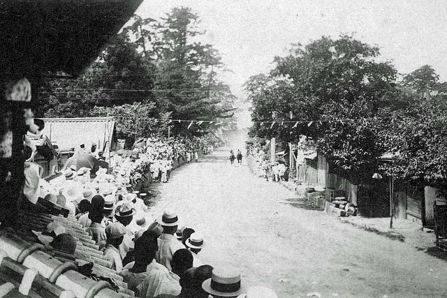 昭和5年(1930年) 田辺祭 馬駆け