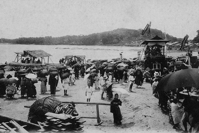 大正5年(1916年) 田辺祭 江川浜の潮垢離