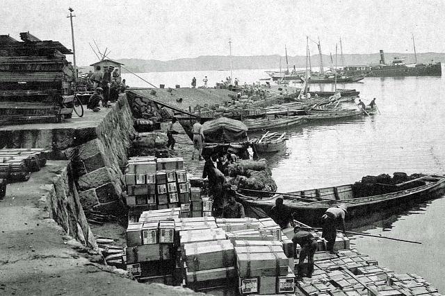 大正5年(1916年) 田辺港(会津川河口)