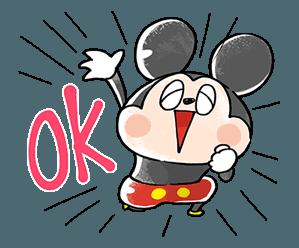 デートのお誘いにも ミッキーマウス のスタンプで人気者に スタンプためす