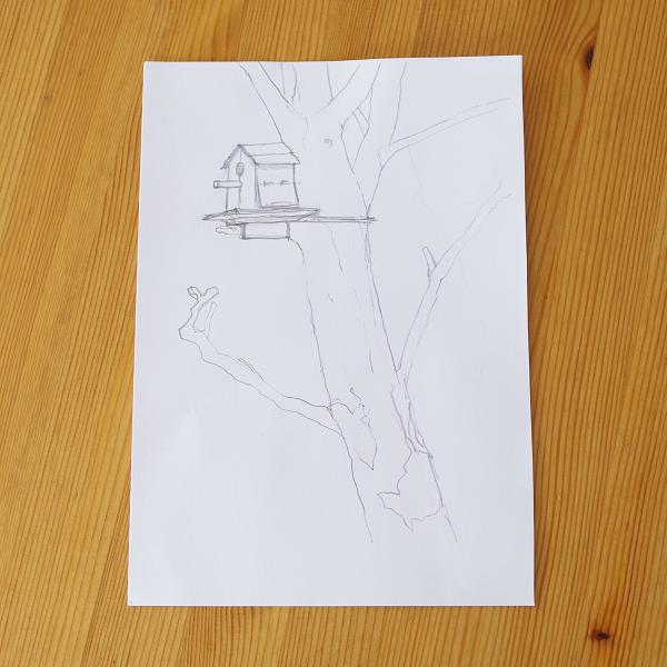 五感で描くスケッチ「風を描いてみよう♪」4