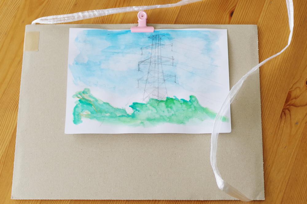 五感で描くスケッチ「風を描いてみよう♪」5