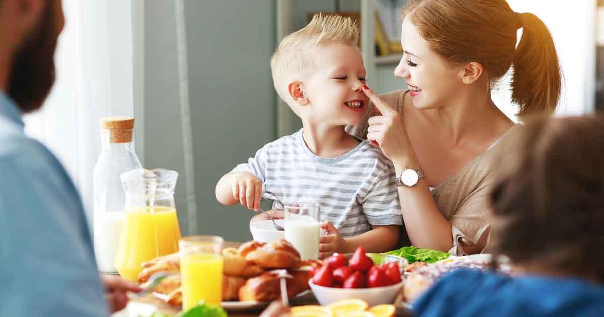 子ども向け朝ごはんメニュー、シンプルな2パターン。