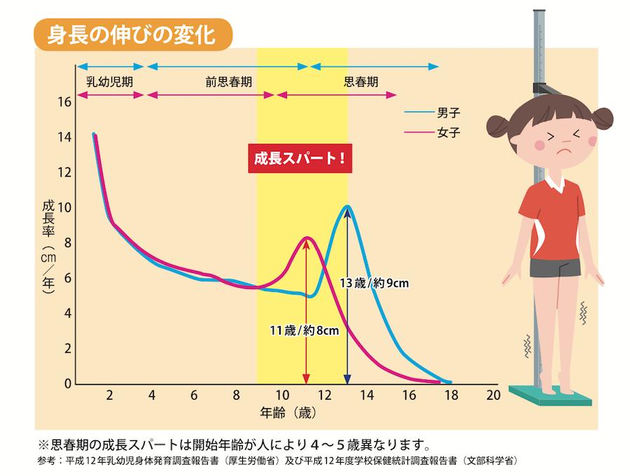 成長スパートグラフ