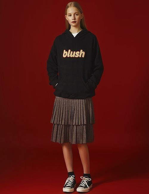 [margarin fingers] blush hood T