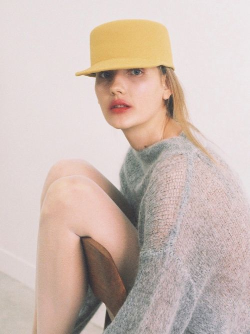 [AWESOME NEEDS] LAMBS WOOL HORSE RIDING CAP [MUSTARD]