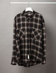 [D-ANTIDOTE] FLANNEL CHECK OVERSIZE SHIRT