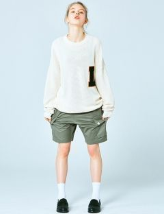 [LIFUL] COLLEGE LOGO PATCHED KNIT SWEATER