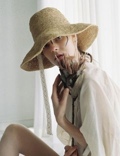 [AWESOME NEEDS] RAFFIA BUCKET HAT
