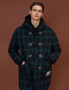 [5252] TOGLE POINT DUFFLE COAT [check]