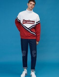 [5252] LOYAL CREW SLOGAN JUMPER [red]