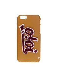 [5252] PATCH LOGO PHONE CASE [beige]