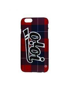 [5252] PATCH LOGO PHONE CASE [red check]
