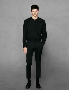 [VOIEBIT] EASY CROP SLACKS BLACK