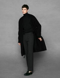 [VOIEBIT] SIMPLE WIDE SLACKS BLACK