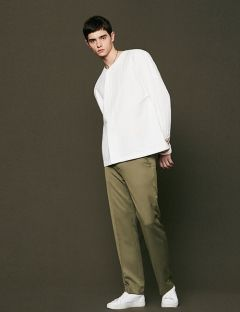 [VOIEBIT] SIMPLE WIDE SLACKS KHAKI
