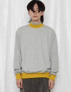 [ROCKET X LUNCH] R DOUBLE TURTLENECK SWEATSHIRT