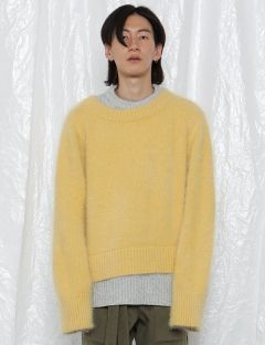 [ROCKET X LUNCH] R ANGORA LAYERED KNITTED TOP