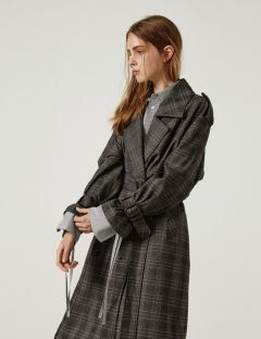 [1159STUDIO] MH3 CHECK RING TRENCH COAT [CHECK]