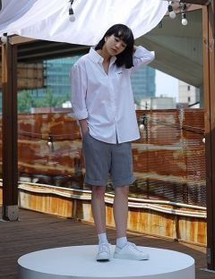 [USUAL EDIT] City Worker Shirts [White]