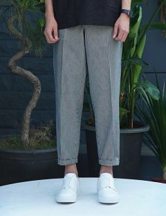 [USUAL EDIT] Middy Pants [Navy]