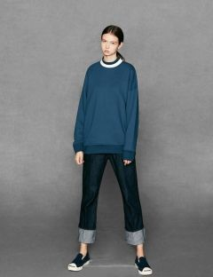 [VOIEBIT] INDIGO ROLL-UP WIDE JEANS BICE