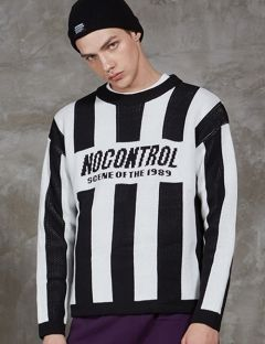 [SHETHIS COMMA] NOCONTROL STRIPE KNIT