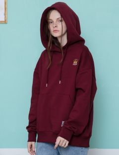 [CANLEAP] CANLEAP 1ST SCHEDULE overfit hoodie[burgundy