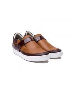 [HATISS] Tri Conered Brown Slip on