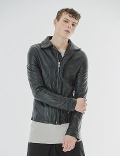 [GOER] WRINKLE LEATHER JACKET