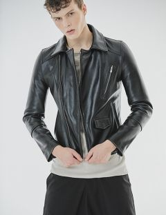 [GOER] COWHIDE LEATHER JACKET