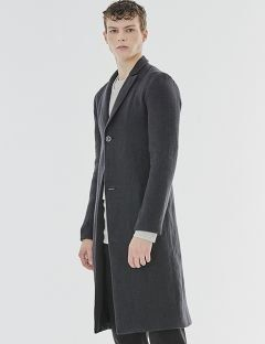 [GOER] TWO BUTTON LINEN COAT